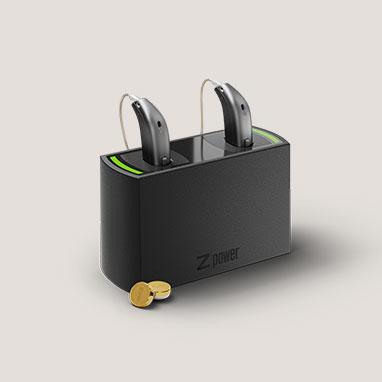 Слухові апарати з можливістю використання акумуляторів